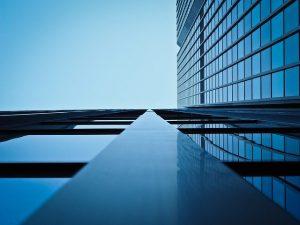 windows on large building
